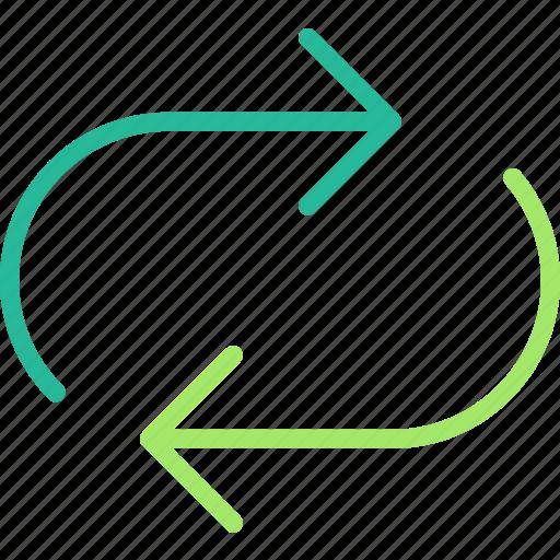 arrow, direction, orientation, syncronise icon