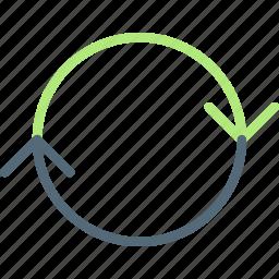 arrow, circuit, direction, full, orientation icon