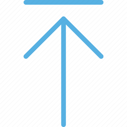 arrow, direction, move, orientation, to, top icon