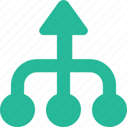 arrow, direction, multiply, orientation, up icon