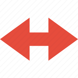 and, arrow, direction, left, orientation, right icon