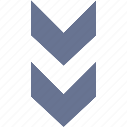 arrow, direction, double, down, orientation icon