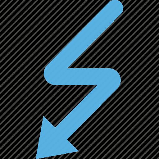 arrow, detour, direction, orientation icon