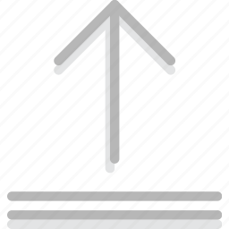 arrow, direction, orientation, upload icon