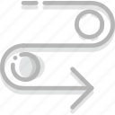 arrow, cycle, detour, direction, orientation icon