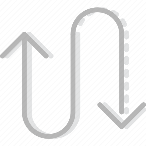 arrow, curved, direction, orientation, semicycle icon