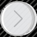 arrow, direction, orientation, right