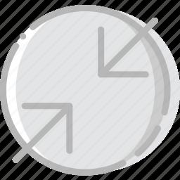 arrow, compress, direction, orientation icon