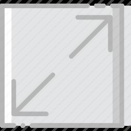 arrow, diagonal, direction, expand, orientation icon