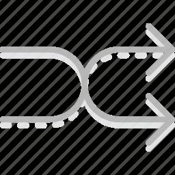 arrow, direction, manual, orientation, shuffle icon