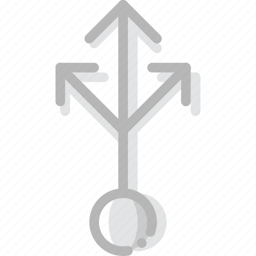 arrow, direction, into, more, multiply, orientation icon