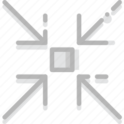 arrow, direction, focus, object, on, orientation icon