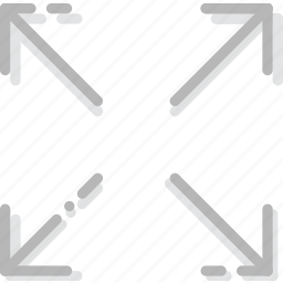 arrow, direction, expand, orientation icon