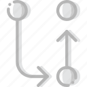 arrow, cycle, direction, orientation, transfer icon