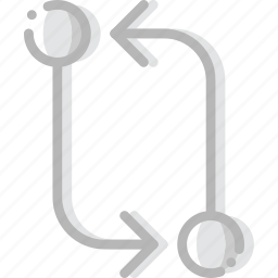 arrow, circuit, cycle, direction, orientation icon