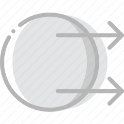 arrow, direction, orientation, transfer icon