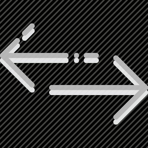 arrow, both, direction, horizontal, orientation, ways icon