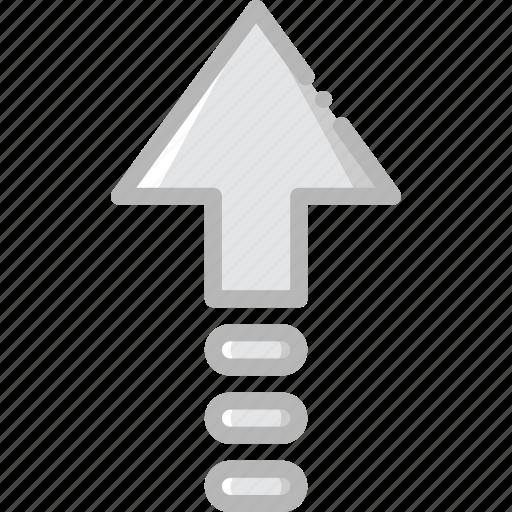 arrow, direction, orientation, up icon