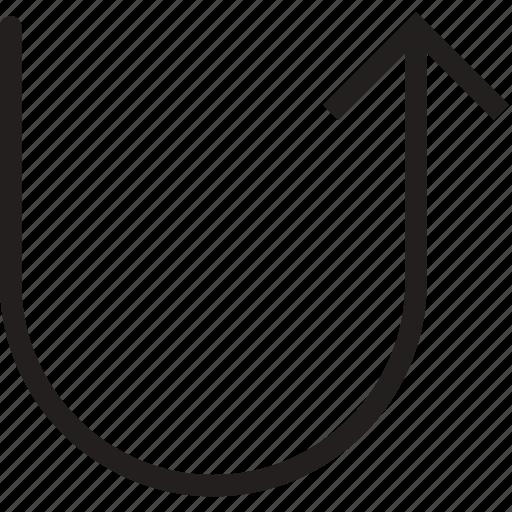 arrow, direction, orientation, return icon