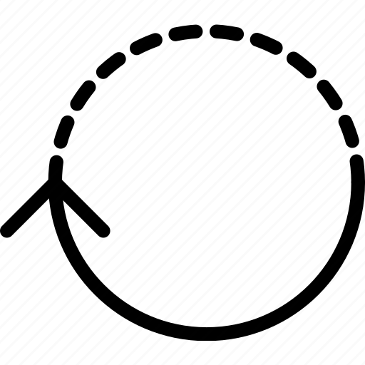 arrow, circuit, direction, half, orientation icon
