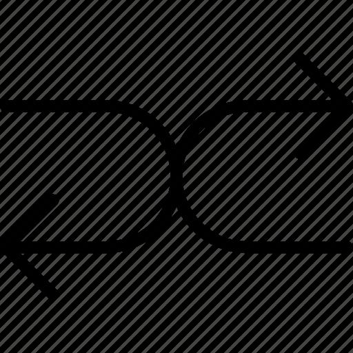 arrow, direction, orientation, random, shuffle icon
