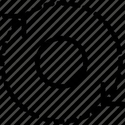 arrow, direction, orbit, orientation icon