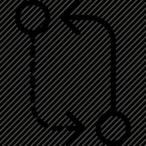 alternative, arrow, circuit, direction, orientation icon