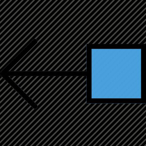arrow, direction, drag, left, object, orientation icon