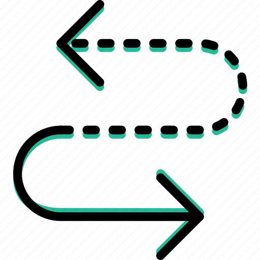 arrow, curved, cycle, direction, orientation icon