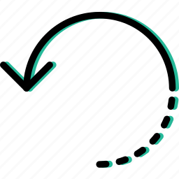 arrow, circuit, direction, orientation, unfinished icon