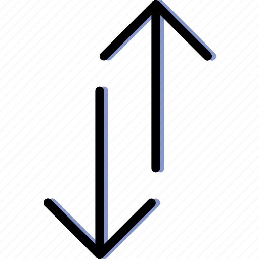arrow, both, direction, orientation, vertical, ways icon