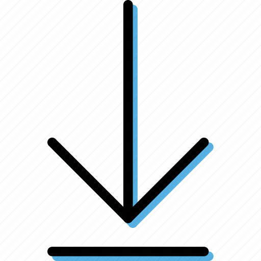 arrow, bottom, direction, move, orientation, to icon