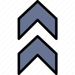 arrow, direction, double, orientation, up icon