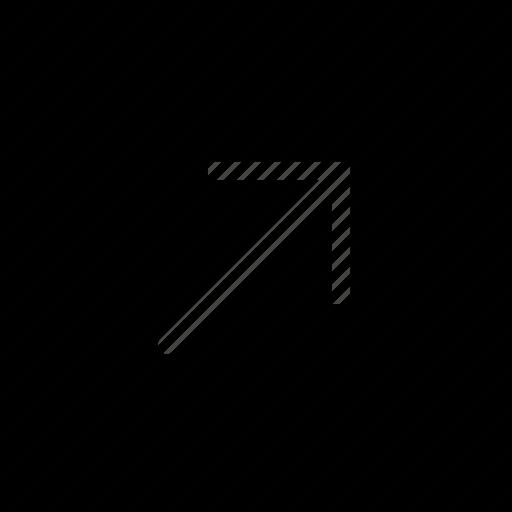 arrow, diagonal, direction, orientation, right, up icon