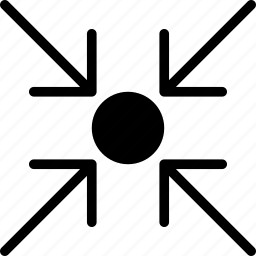 arrow, direction, focus, object, on, orientation icon