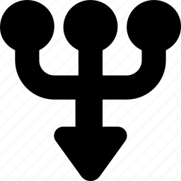 arrow, direction, down, multiply, orientation icon