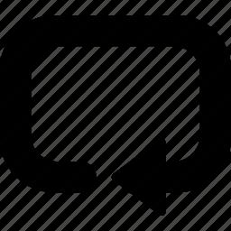 arrow, direction, orientation, spin icon