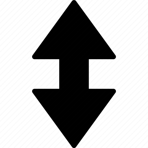 and, arrow, direction, down, orientation, up icon