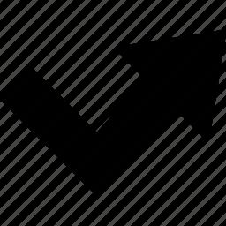 arrow, direction, orientation, reject icon