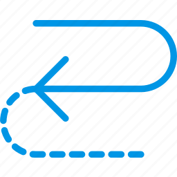 arrow, cycle, direction, half, orientation icon