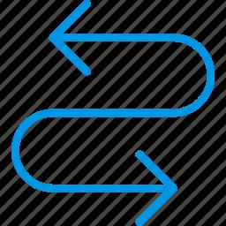 arrow, curve, cycle, direction, orientation icon