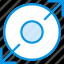 arrow, direction, expand, nucleum, orientation icon