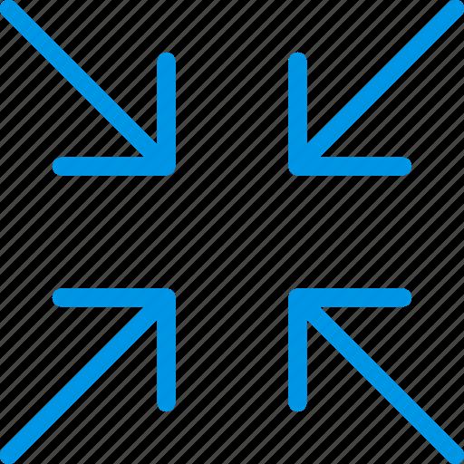 arrow, direction, minimize, orientation icon