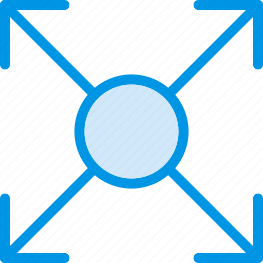 arrow, circle, direction, expand, orientation icon