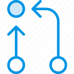 arrow, direction, orientation, symbiosis icon