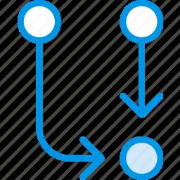 arrow, direction, orientation, symbiosis icon