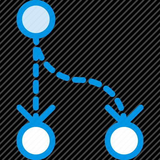 arrow, direction, divide, orientation icon