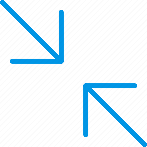 arrow, diagonal, direction, minimize, orientation icon