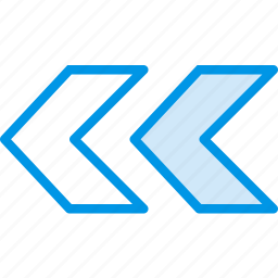 arrow, direction, double, left, orientation icon