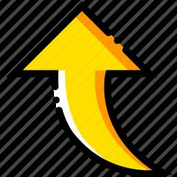 arrow, direction, orientation, upward icon